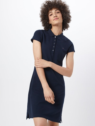 TOMMY HILFIGER Šaty 'HERITAGE SLIM POLO DRESS' - tmavomodrá, Model/-ka