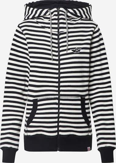 Derbe Sweatjacke 'Easy Sea Oc' in schwarz / weiß, Produktansicht