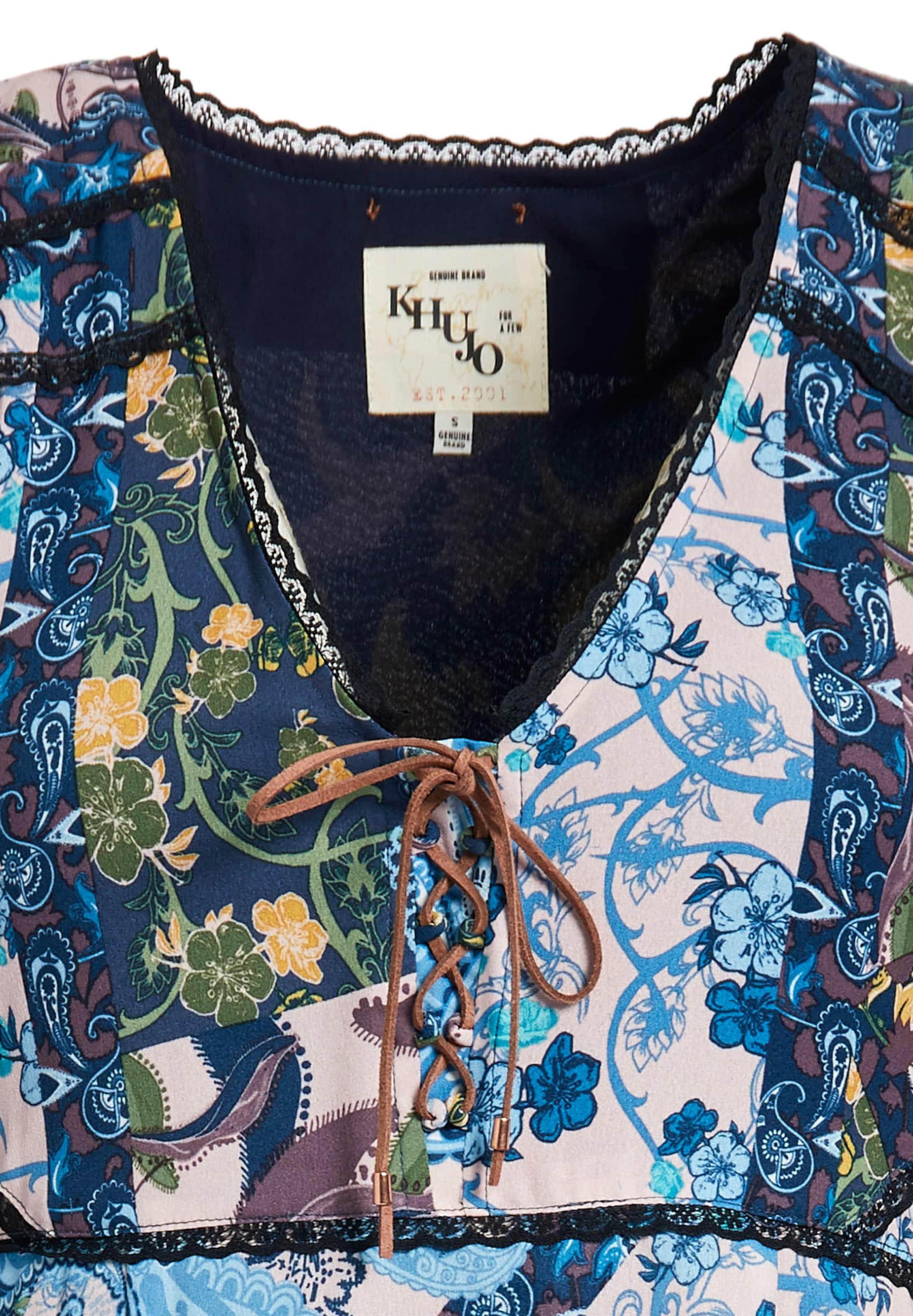 Kleid BlauGelb 'castiana' Khujo Weiß In uF513TlKJc