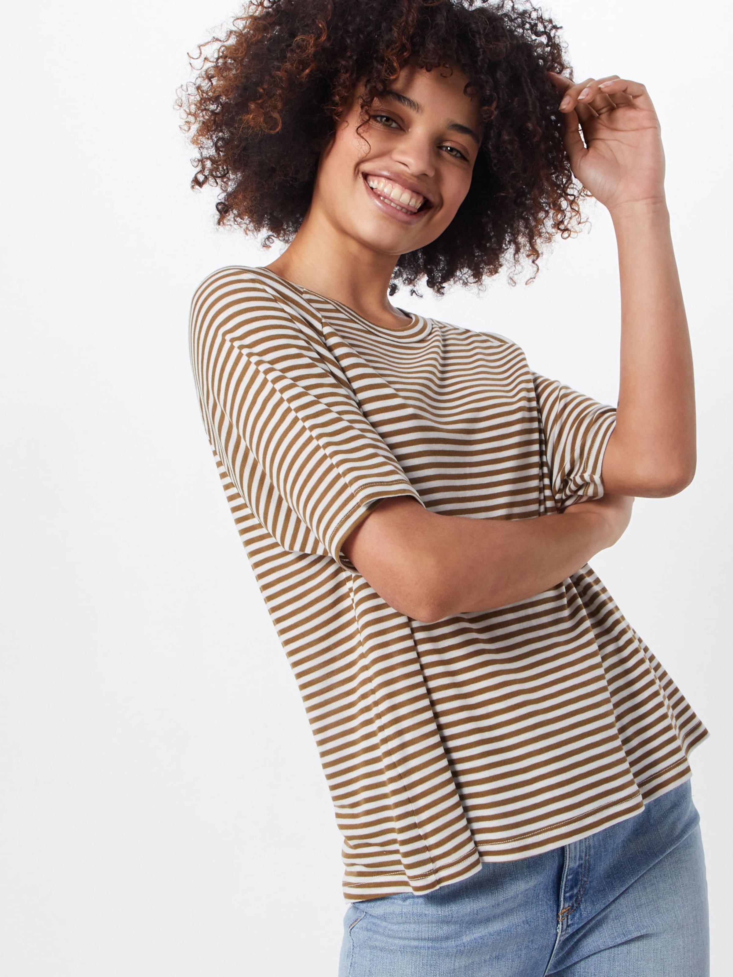 Mbym shirt T 'delanie' MarronBlanc En 4j35RcqAL