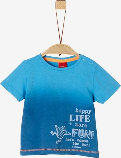 s.Oliver T-Shirt in blau / türkis: Frontalansicht