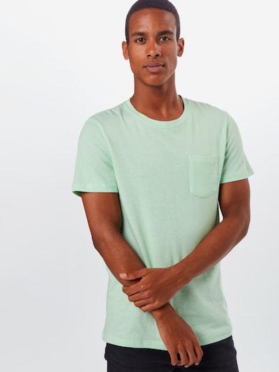 Tricou TOM TAILOR DENIM pe verde neon: Privire frontală