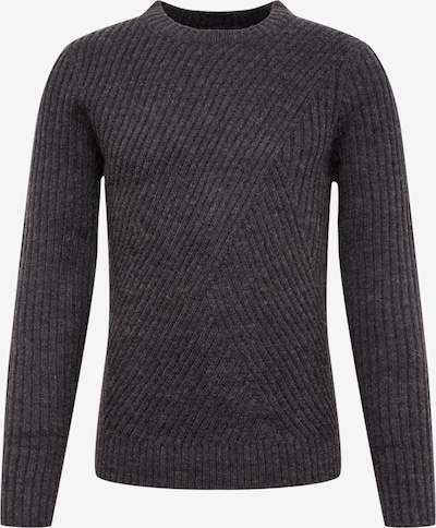 BURTON MENSWEAR LONDON Pullover 'valby crew charcoal' in grau, Produktansicht