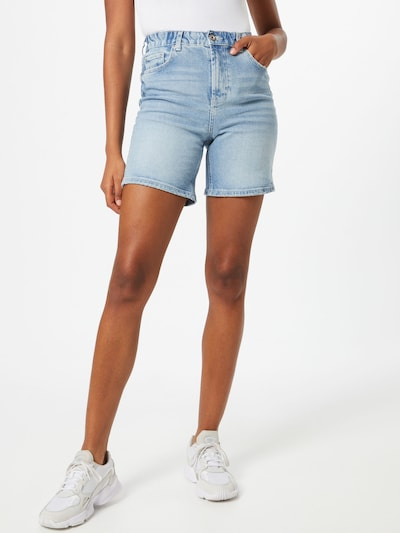 PIECES Shorts 'LEAH' in blue denim, Modelansicht
