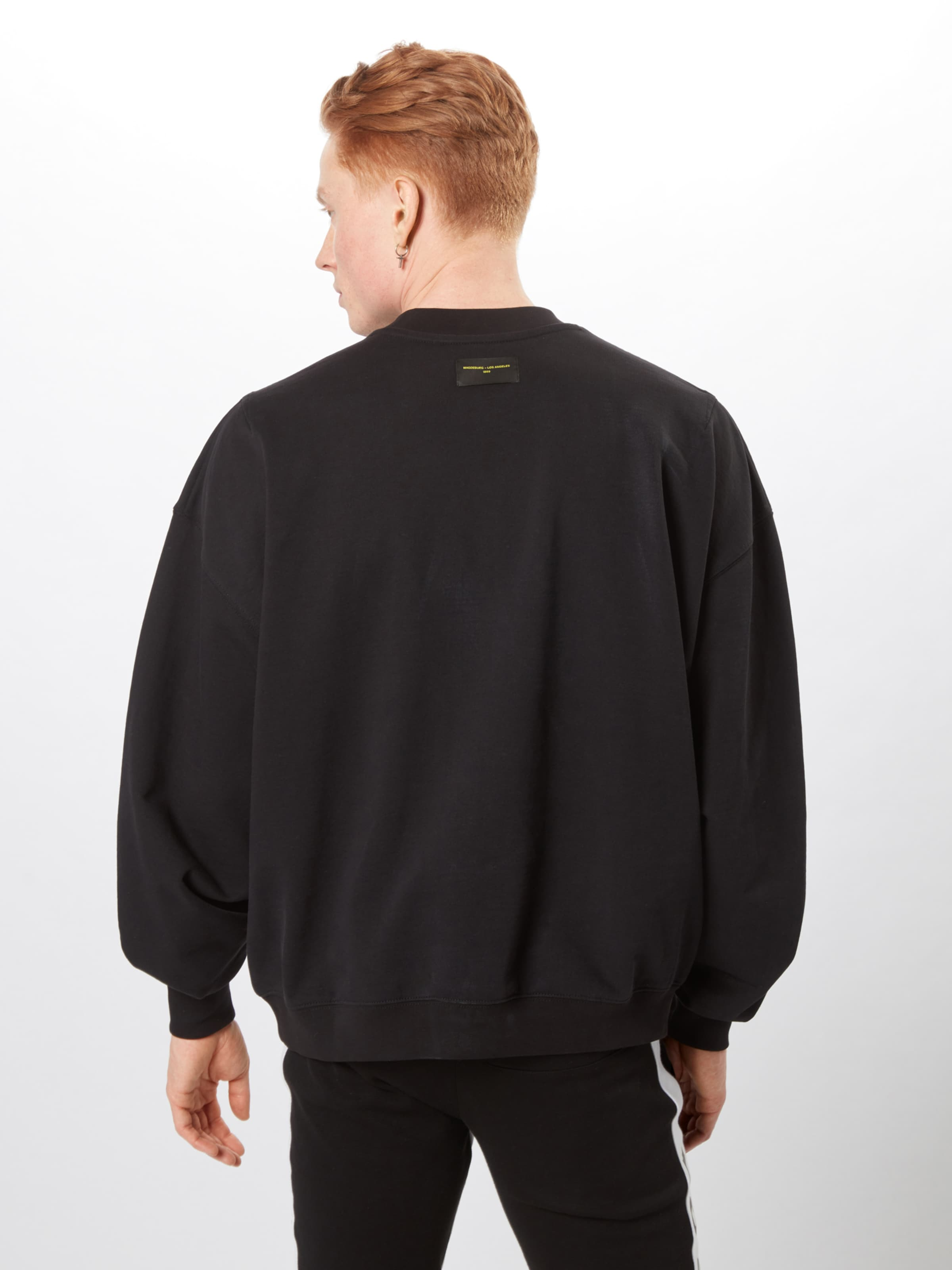 Sweat 'mdla JauneNoir En shirt MagdeburgLos Angeles Logo' WoxdBerC