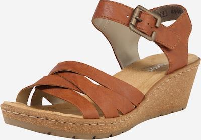 RIEKER Sandaal in de kleur Cognac, Productweergave