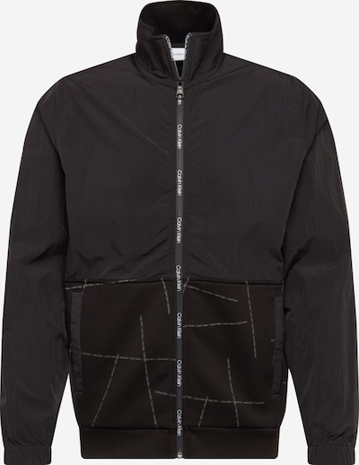 Calvin Klein Jacke 'Broken Logo Zip Through' in schwarz, Produktansicht