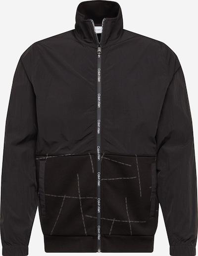 Calvin Klein Přechodná bunda 'Broken Logo Zip Through' - černá, Produkt