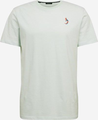 SELECTED HOMME Majica 'WAYNE' | svetlo zelena / bela barva, Prikaz izdelka