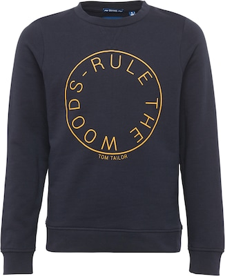 TOM TAILOR Sweatshirt 'rule the woods'