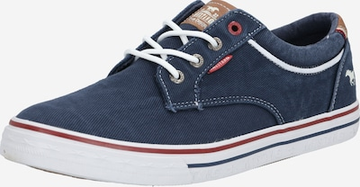 MUSTANG Sneaker in blau / rot / weiß, Produktansicht