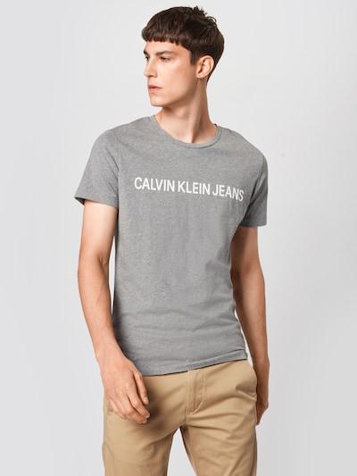Calvin Klein Jeans T-Shirt en gris: Vue de face