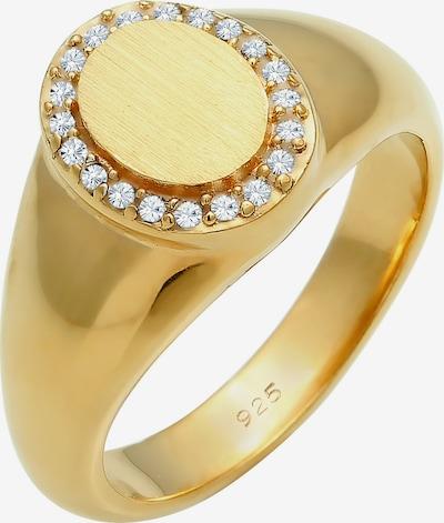 ELLI PREMIUM Ring Siegelring Edel in gold / silber: Frontalansicht