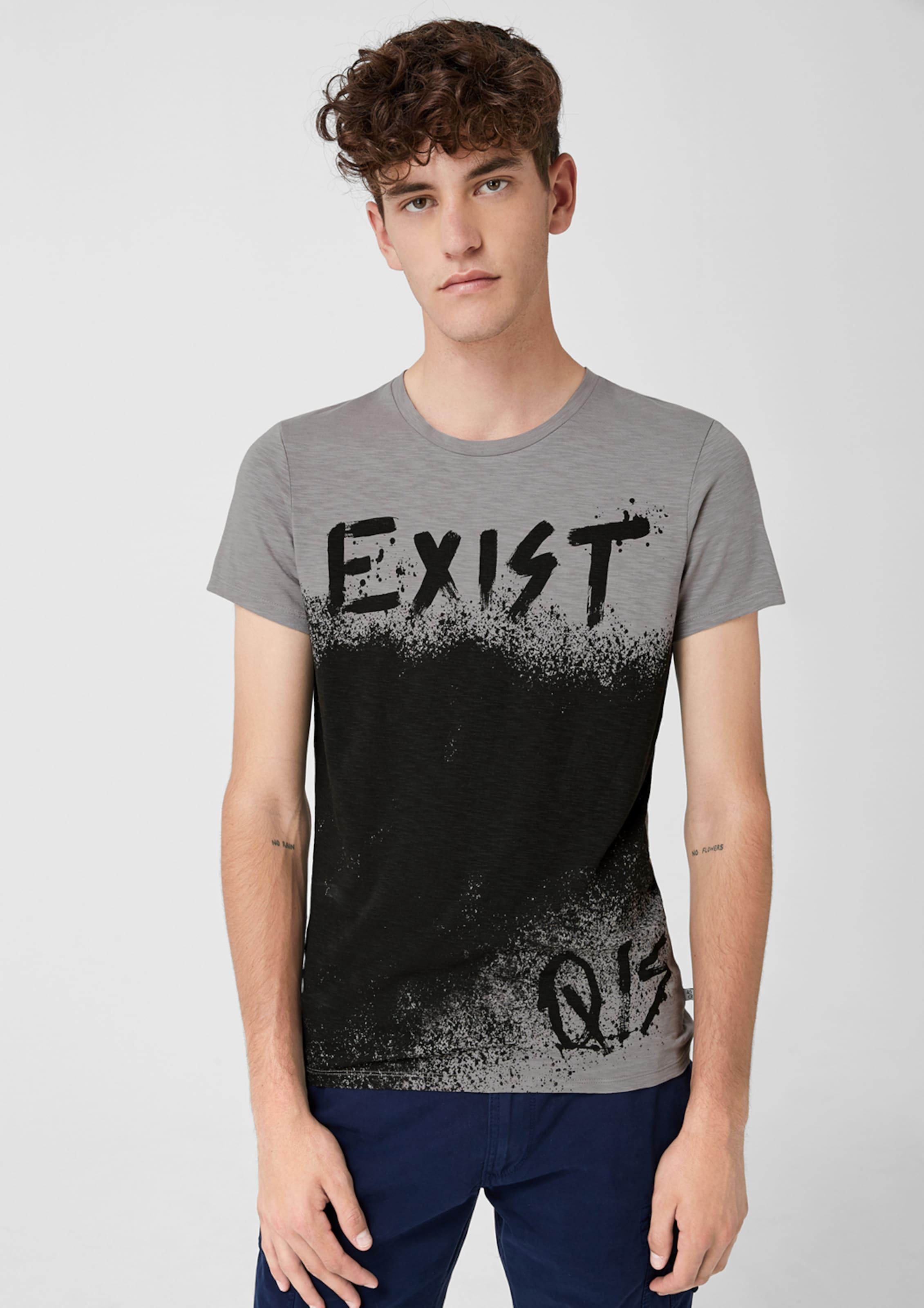 Mit Grau Print Flammgarnshirt Designed Q By In s 3jRq4AL5