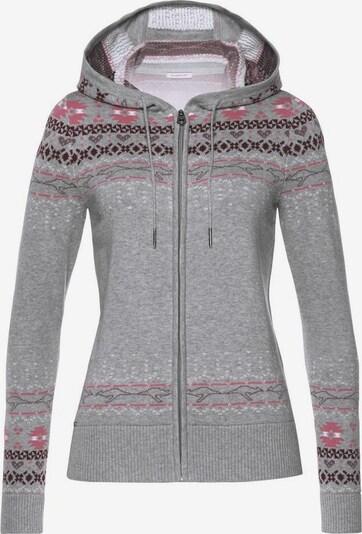 KangaROOS Strickjacke in grau / pink, Produktansicht