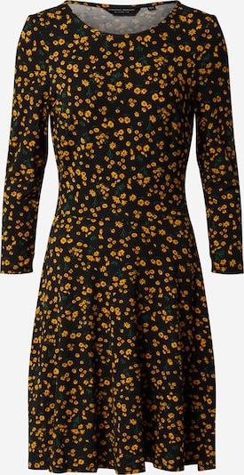 Dorothy Perkins Robe 'JERSEY CREW NECK DITSY FLORAL FIT AND FLARE' en jaune / noir, Vue avec produit