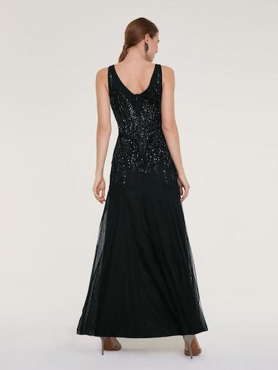 heine Abendkleid in schwarz: Rückansicht
