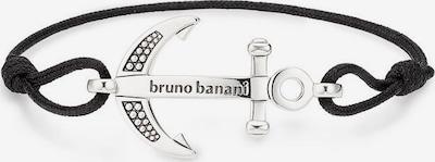BRUNO BANANI Bruno Banani Armband »Anker, B4034B/90/00« in schwarz / silber, Produktansicht