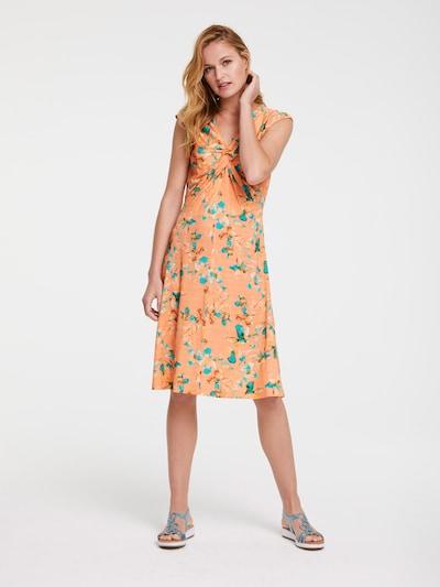 heine Kleid in aqua / pfirsich, Modelansicht