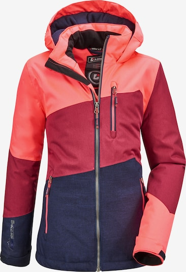 KILLTEC Kurtka sportowa 'Lynge' w kolorze granatowy / koralowy / wiśniowo-czerwonym, Podgląd produktu