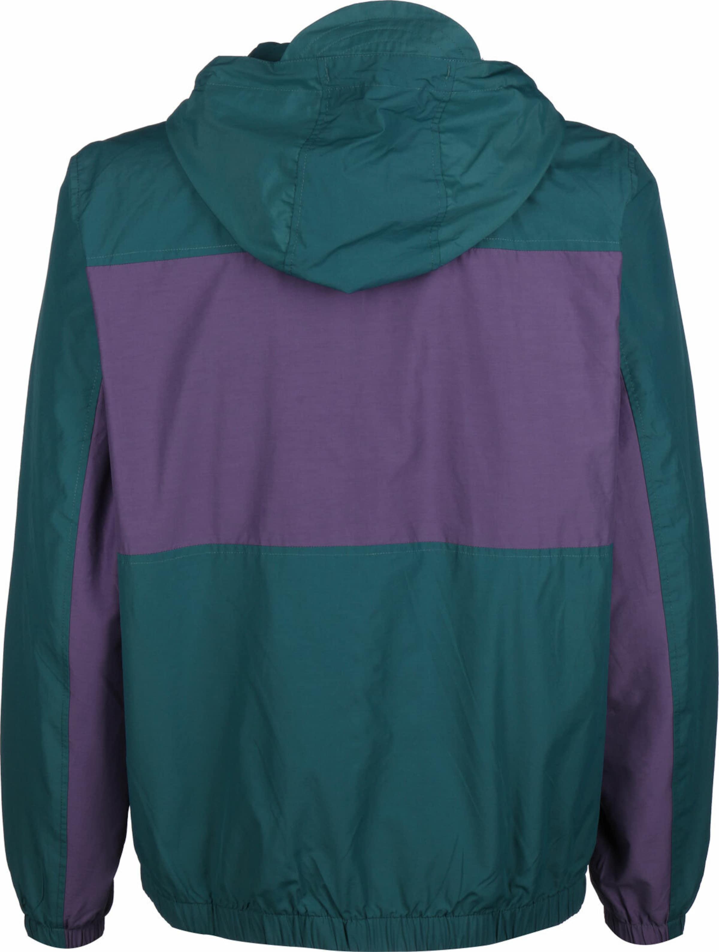 Lyle & Scott Windbreaker ' lightweight hooded ' in grün / lila Baumwolle KJ14K046011