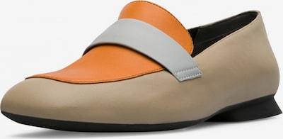 CAMPER Chaussons ' Twins ' en beige / gris / orange, Vue avec produit