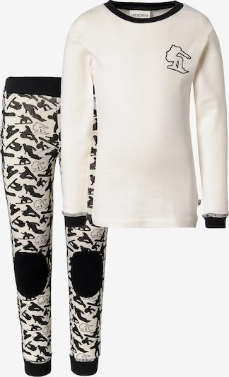 JACKY Set Unterhemd+ Unterhose in schwarz / weiß, Produktansicht