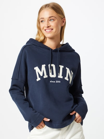 Derbe Sweatshirt 'Favorite Hoody' in navy / weiß, Modelansicht
