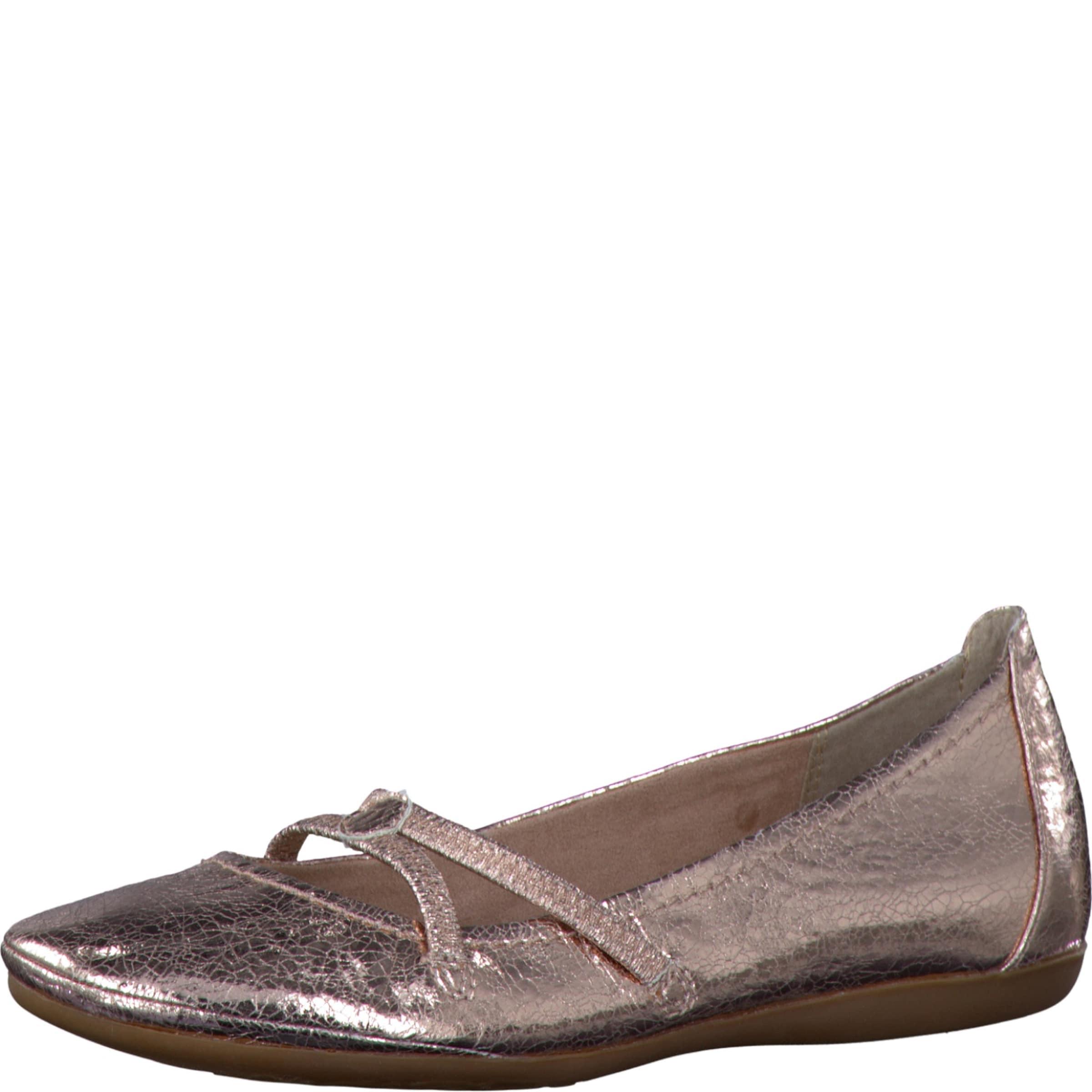 TAMARIS Ballerina metallic Verschleißfeste billige Schuhe