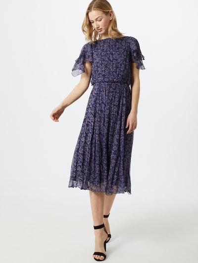 sessun Kleid 'ROMANTIE' in marine / navy / orangerot, Modelansicht