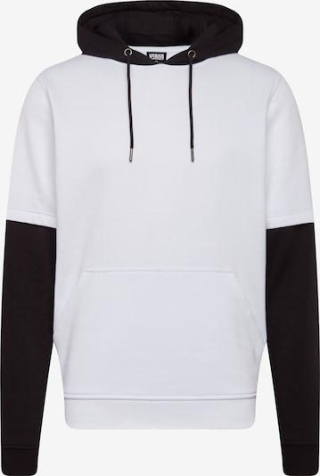 Urban Classics Sweatshirts 'Double Layer Hoody' in schwarz / weiß, Produktansicht