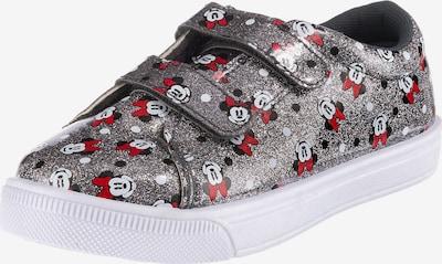 DISNEY Sneaker in rot / schwarz / silber / weiß, Produktansicht