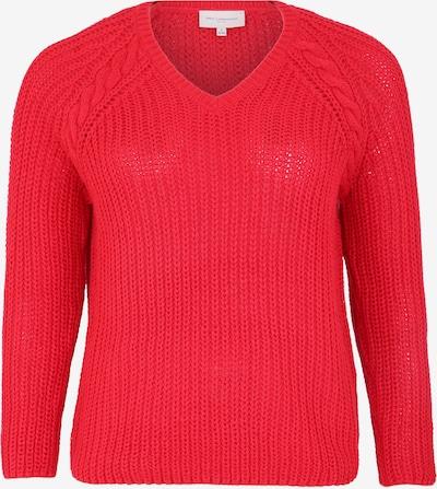 Pulover ONLY Carmakoma pe roșu neon: Privire frontală