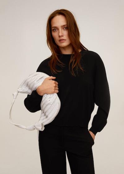 MANGO Pullover 'soldier' in schwarz, Modelansicht