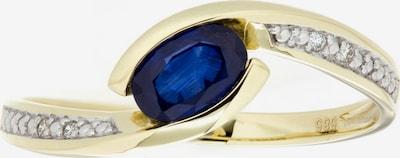 VIVANCE Ring mit Saphir und Brillanten in saphir / gold, Produktansicht