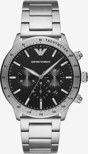 Emporio Armani Chronograph in schwarz / silber, Produktansicht