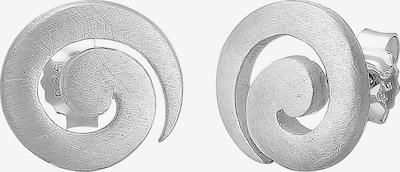 Nenalina Ohrringe 'Spirale' in silber: Frontalansicht