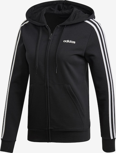 ADIDAS PERFORMANCE Sweatjacke 'Essentials Linear' in schwarz / weiß, Produktansicht