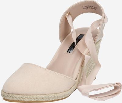 Miss Selfridge Sandale 'WINNY ANKLE TIE WEDGE' in pink, Produktansicht