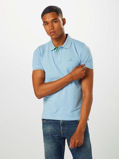 Tricou GANT pe albastru deschis / verde: Privire frontală