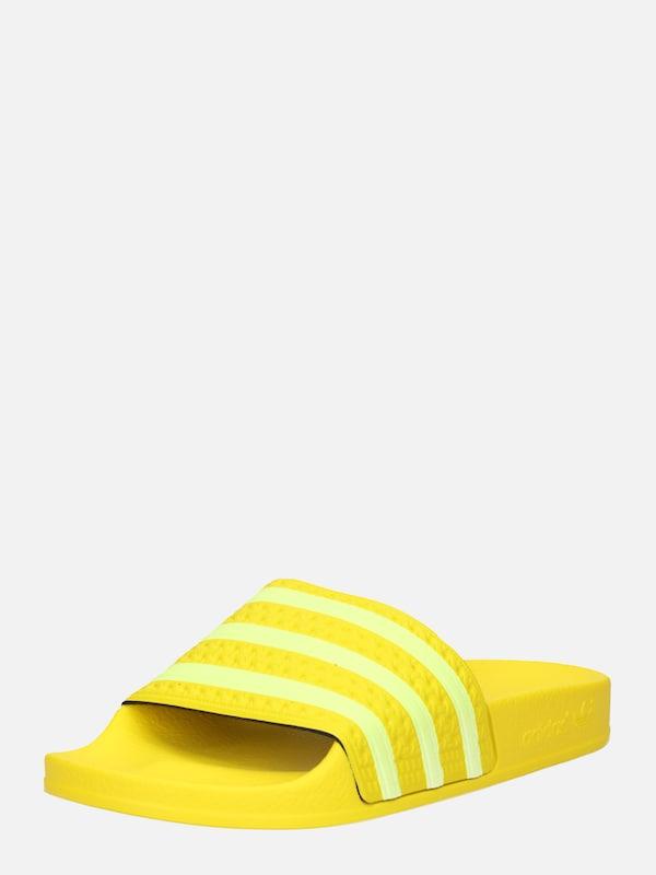 ADIDAS ORIGINALS Slipper 'ADILETTE W' in gelb weiß