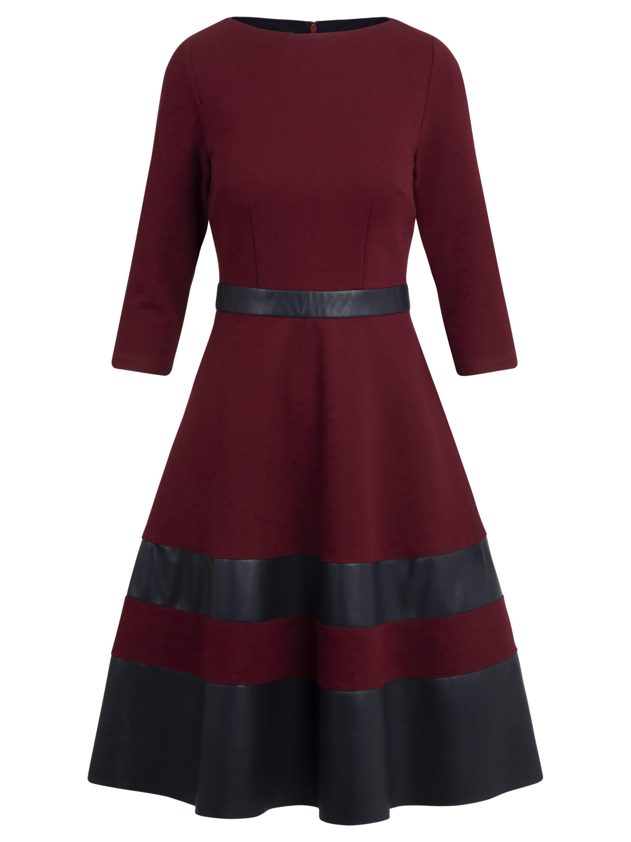 Kleid Apart In Kleid In Apart BordeauxSchwarz POkw8n0