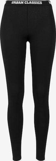Urban Classics Leggings in schwarz / weiß: Frontalansicht