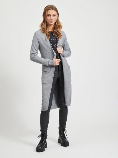 VILA Strickcardigan 'Ril' in grau, Modelansicht