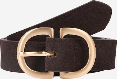 Curea 'JUVA' PIECES pe maro închis / auriu, Vizualizare produs