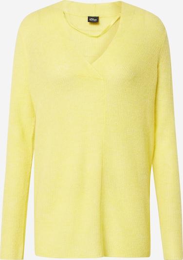 s.Oliver BLACK LABEL Pullover in hellgelb, Produktansicht