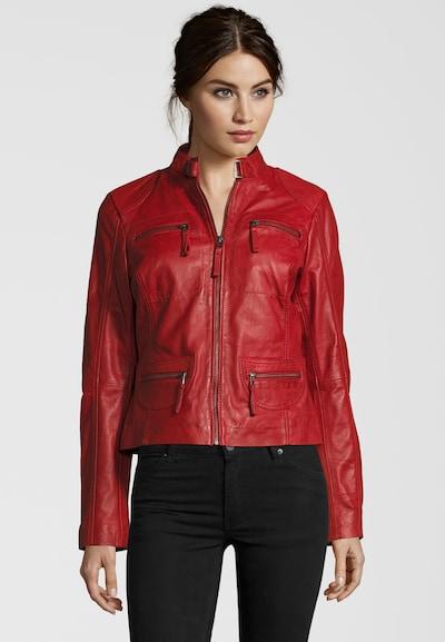 7ELEVEN Lederjacke 'Katerina' in rot, Produktansicht