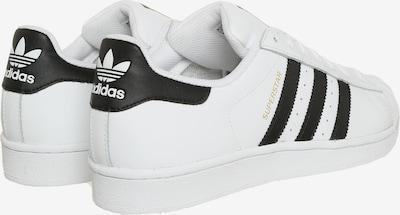 ADIDAS ORIGINALS Sneaker 'Superstar' in schwarz / weiß: Rückansicht