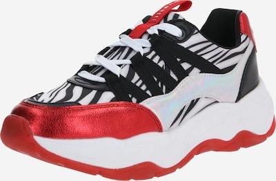 bugatti Sneaker 'Piera' in rot / schwarz / silber, Produktansicht