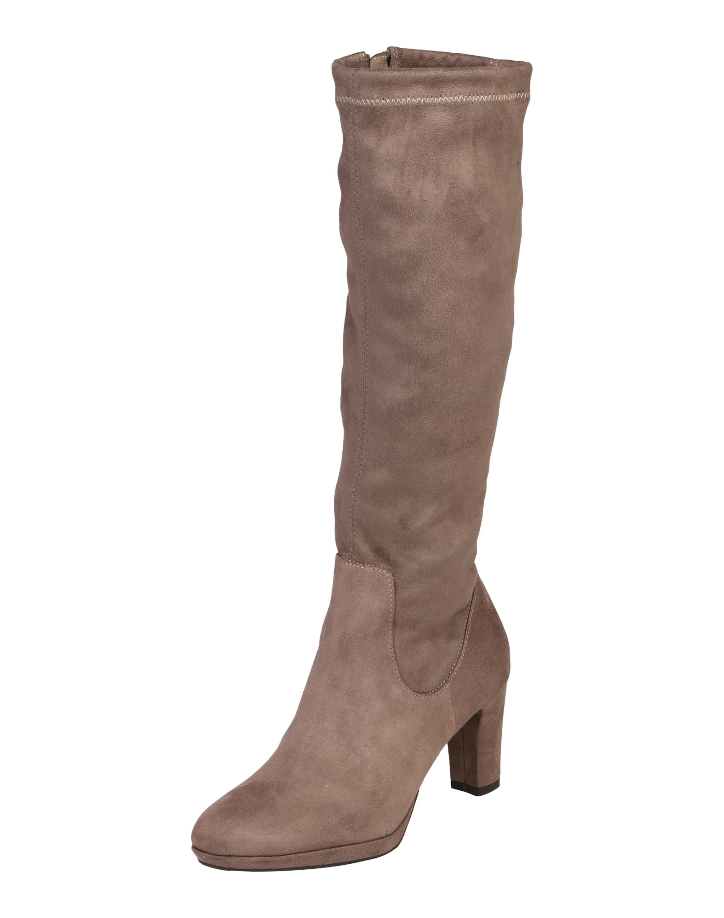 TAMARIS | Langschaft-Stiefel in in in Veloursleder-Optik 131c77